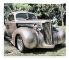 1939 Packard Coupe Fleece Blanket