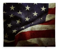 American Flag 78 Fleece Blanket