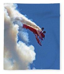 1940 Boeing Stearman Biplane Stunt 2 Fleece Blanket