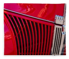 1940 Ford Pickup Grill Fleece Blanket