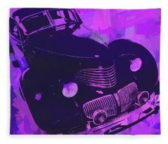1940 Hupp Skylark Violet Pop Fleece Blanket