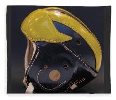 1940s Leather Wolverine Helmet Fleece Blanket