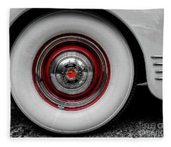 1941 Packard Convertible Wheels Fleece Blanket