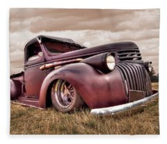 1941 Rusty Chevrolet Fleece Blanket