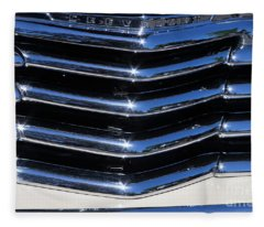 1947 Chevy Fleetline Aero Grill Fleece Blanket