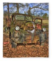 1947 Dodge Dump Truck Fleece Blanket