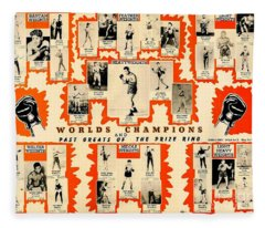 1947 World Champions And Past Greats Of The Prize Ring Fleece Blanket