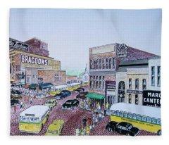 Rush Hour Portsmouth Ohio 1948 Fleece Blanket