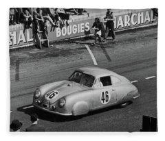 1951 Porsche At Le Mans - Doc Braham - All Rights Reserved Fleece Blanket