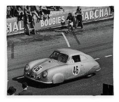 1951 Porsche Winning At Le Mans  Fleece Blanket