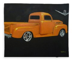 1952 Ford Pickup Custom Fleece Blanket