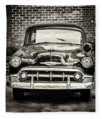 1953 Chevy Belair Police Car Fleece Blanket