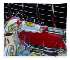 1955 Chevy Coupe Grill Fleece Blanket
