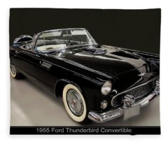 1955 Ford Thunderbird Convertible Fleece Blanket