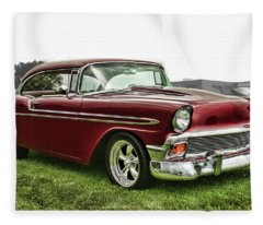 1956 Chevrolet Bel Air Fleece Blanket