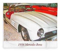 1956 Mercedes Benz Fleece Blanket