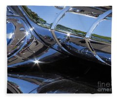 1956 Pontiac Chieftain Grill Abstract Fleece Blanket