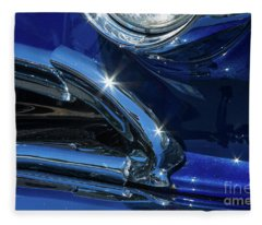 1956 Pontiac Chieftain Headlight And Grill 1 Fleece Blanket