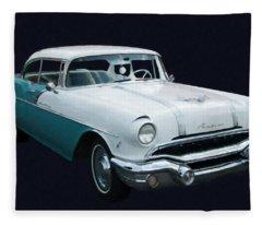 1956 Pontiac Star Chief Digital Oil Fleece Blanket