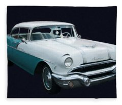 1956 Pontiac Star Chief Digital Oil Fleece Blanket