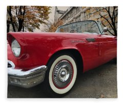 1957 Ford Thunderbird Fleece Blanket