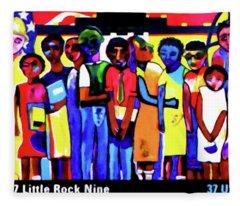 1957 Little Rock Nine Fleece Blanket