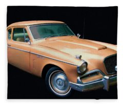 1957 Studebaker Golden Hawk Digital Oil Fleece Blanket