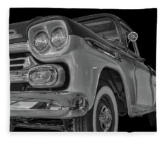 1959 Chevrolet Apache - Bw Fleece Blanket