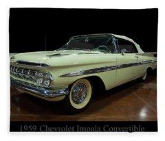 1959 Chevy Impala Convertible Fleece Blanket