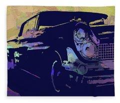 1959 Lincoln Continental Abs Fleece Blanket
