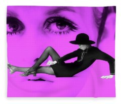 Fleece Blanket featuring the photograph 1960's Blast From The Past - Twiggy by Andrea Kollo