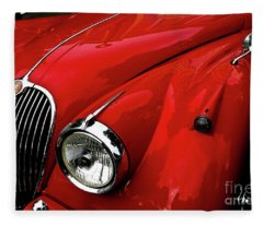 Red Jaguar Fleece Blanket