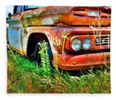 1961 Chevrolet Apache 10 5 Fleece Blanket