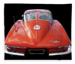1963 Corvette Stingray Split Window Rear Fleece Blanket
