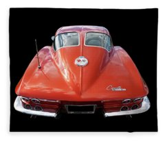 1963 Corvette Stingray Split Window Rear Fleece Blanket