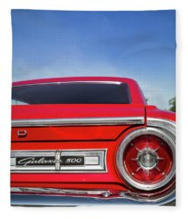 1964 Ford Galaxie 500 Taillight And Emblem Fleece Blanket