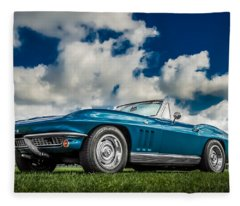 1966 Corvette Stingray  Fleece Blanket