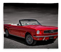 1966 Ford Mustang Convertible Fleece Blanket