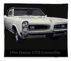 1966 Pontiac Gto Convertible Fleece Blanket