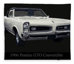 1966 Pontiac Gto Convertible Fleece Blanket