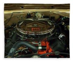 1967 Plymouth Belvedere Gtx 426 Hemi Motor Fleece Blanket