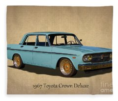 1967 Toyota Crown Deluxe 2 Fleece Blanket