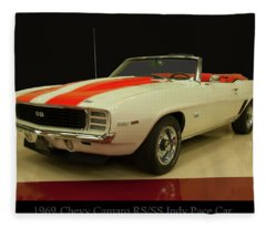 1969 Chevy Camaro Rs/ss Indy Pace Car Fleece Blanket