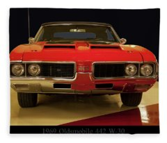 1969 Oldsmobile 442 W-30 Fleece Blanket