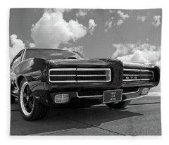 1969 Pontiac Gto The Goat Fleece Blanket