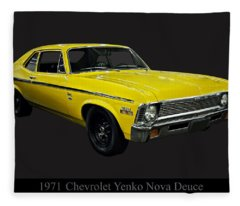 1971 Chevy Nova Yenko Deuce Fleece Blanket