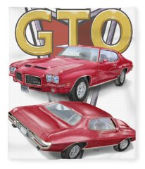 1971 Pontiac Gto Fleece Blanket