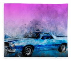 1979 Ranchero Watercolour Of The Last Sport Pickup Truck Fleece Blanket