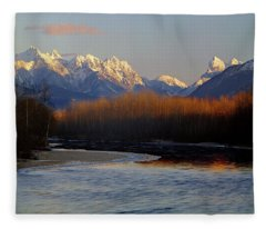 1m4525 Skykomish River And West Central Cascade Mountains Fleece Blanket