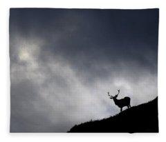 Stag Silhouette Fleece Blanket